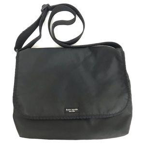 Kate Spade Nylon Crossbody Black Messenger Bag